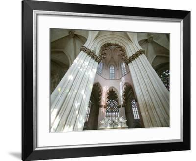 Nave of Abbey of Batalha-Fred de Noyelle-Framed Photographic Print