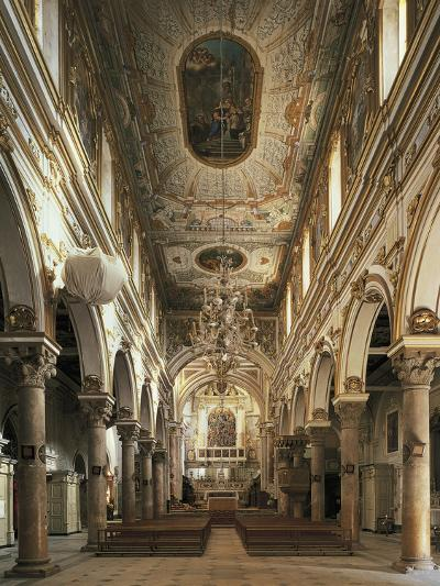 Nave of Cathedral of Matera--Photographic Print