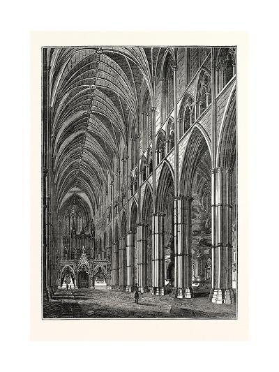 Nave of Westminster Abbey, London, UK--Giclee Print