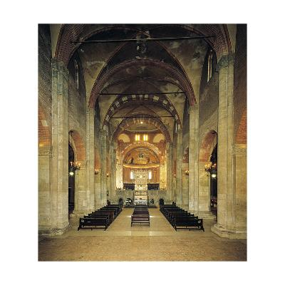 Nave, St Peter in Golden Sky Church, Pavia, Italy, 8th-12th Century--Giclee Print