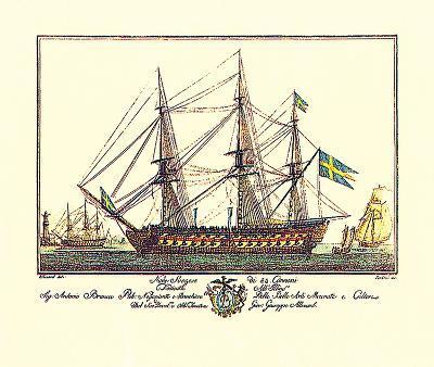 Nave Suezese di 84 Cannoni-Guiseppe Allezard-Premium Giclee Print