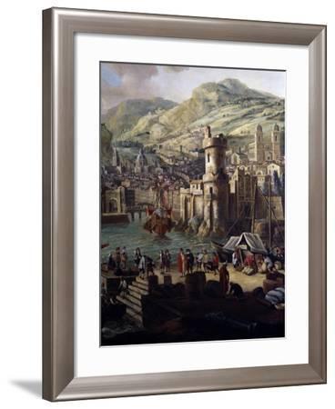 Navigating in Southern Port--Framed Giclee Print