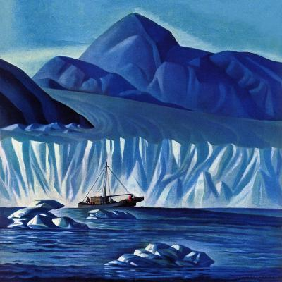 """Navigating Through Icebergs,"" July 19, 1941-Dale Nichols-Giclee Print"