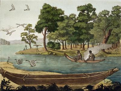 Navigation in New Holland, Engraved Fumagalli, Collection of Early 19th Century Travel Books-Sydney Parkinson-Giclee Print