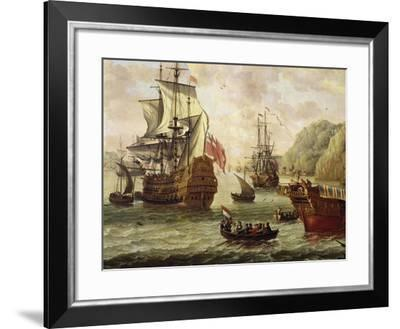 Navigation in Southern Port, Detail, 18th Century--Framed Giclee Print