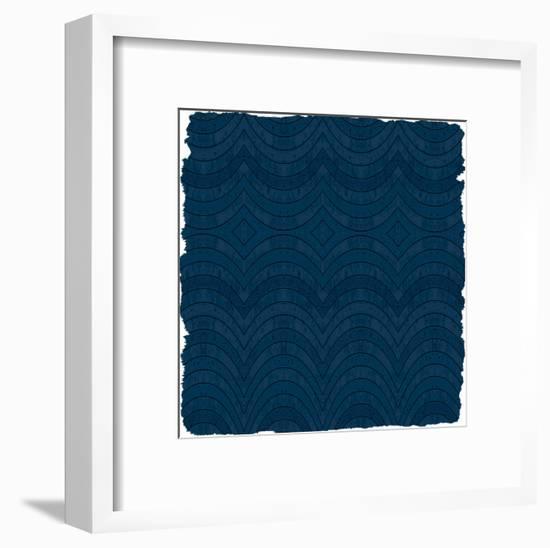 Navy 3-Kimberly Allen-Framed Art Print
