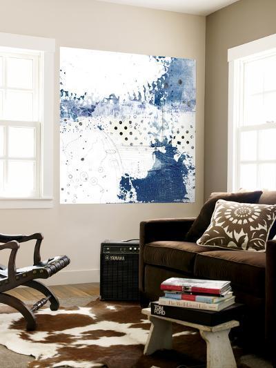Navy Abstract III-Sarah Ogren-Wall Mural
