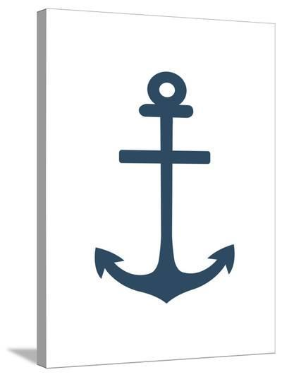 Navy Anchor-Jetty Printables-Stretched Canvas Print
