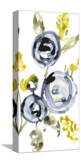 Navy Anemone II-Jennifer Goldberger-Stretched Canvas Print