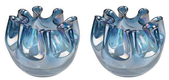 Navy Blue Splash Glass Vase Home Accessories By Art