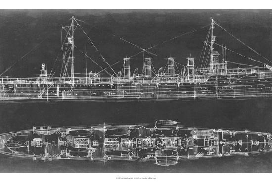 Navy cruiser blueprint art print by ethan harper the new art navy cruiser blueprintby ethan harper malvernweather Images