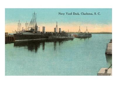 Navy Dockyard, Charleston, South Carolina--Art Print