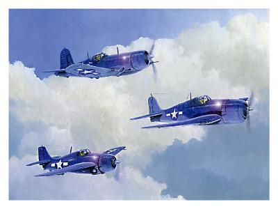 Navy Fighters of WWII-Douglas Castleman-Giclee Print