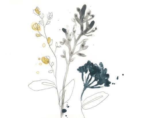 Navy Garden Inspiration I-June Vess-Art Print