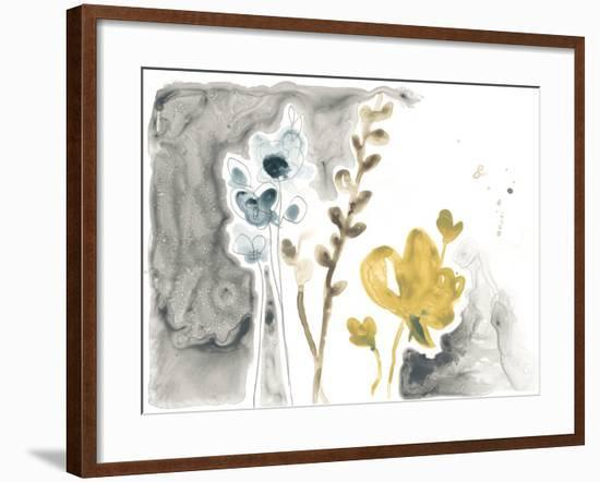 Navy Garden Inspiration II-June Vess-Framed Art Print