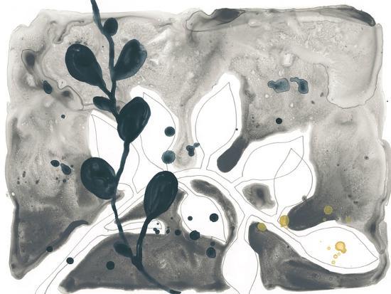Navy Garden Inspiration V-June Vess-Art Print