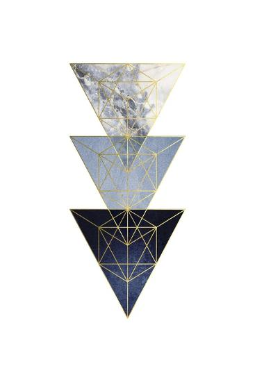 Navy Gold 3-Urban Epiphany-Art Print