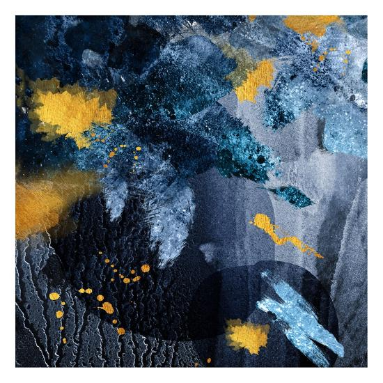 Navy Gold Abstract-Urban Epiphany-Art Print