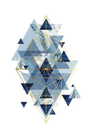 Navy Gold   Geometric-Urban Epiphany-Art Print