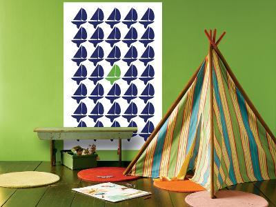 Navy Green Regatta-Avalisa-Giant Art Print