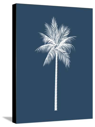 Navy Palm-Jetty Printables-Stretched Canvas Print