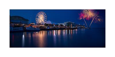 Navy Pier Fireworks Chicago I L-Steve Gadomski-Photographic Print