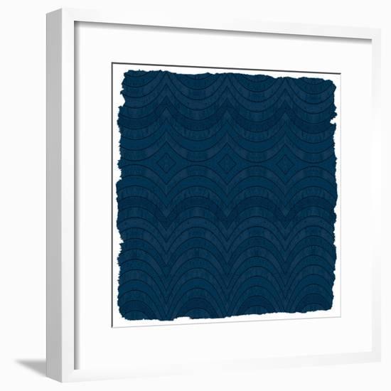 Navy Pink 3-Kimberly Allen-Framed Art Print