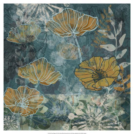 Navy Poppies II-Maria Woods-Art Print