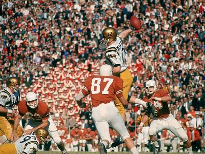 Navy QB Roger Staubach in Action Against University of Texas at the Cotton Bowl-George Silk-Premium Photographic Print