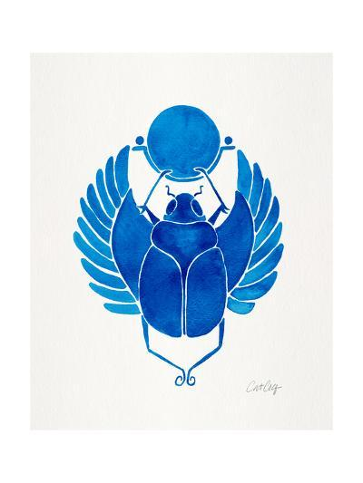 Navy Scarab-Cat Coquillette-Giclee Print