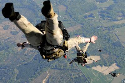 Navy Seals Jump from the Ramp of a C-17 Globemaster Iii over Virginia-Stocktrek Images-Photographic Print
