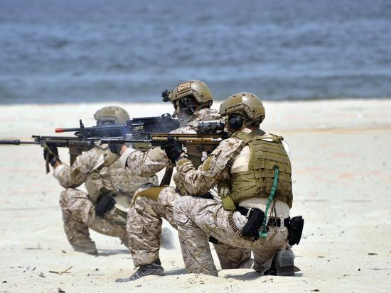Navy SEALs Participate in a Capabilities Exercise-Stocktrek Images-Photographic Print