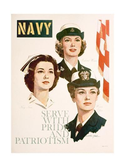 Navy - Serve with Pride and Patriotism Recruiting Poster--Giclee Print