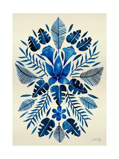 Navy Tropical Symmetry-Cat Coquillette-Giclee Print
