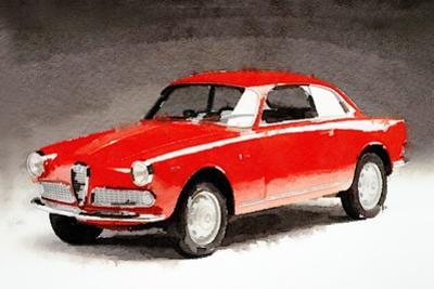 1958 Alfa Romeo Giulietta Sprint Watercolor