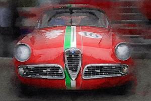 1959 Alfa Romeo Giulietta Watercolor by NaxArt