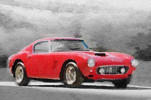 1960 Ferrari 250 GT SWB Watercolor by NaxArt