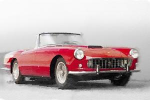 1960 Ferrari 250GT Pinifarina Watercolor by NaxArt