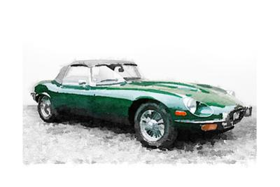 1961 Jaguar E-Type Watercolor