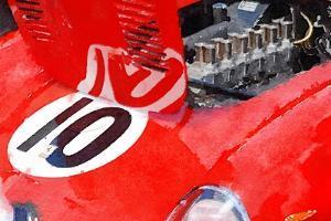 1962 Ferrari 250 GTO Engine Watercolor by NaxArt