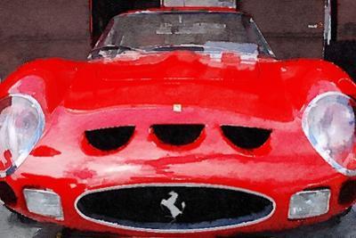 1962 Ferrari 250 GTO Front Watercolor