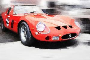 1962 Ferrari 250 GTO Watercolor by NaxArt