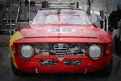 1967 Alfa Romeo GTV Watercolor