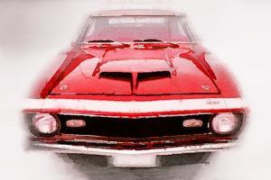 1968 Chevy Camaro Front End Watercolor by NaxArt