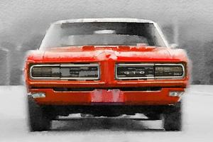 1968 Pontiac GTO Front Watercolor by NaxArt