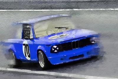 1969 BMW 2002 Racing Watercolor