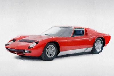 1969 Lamborghini Miura P400 S Watercolor