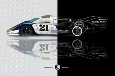 1971 Porsche 917 Martini Rossi III by NaxArt