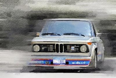 1974 BMW 2002 Turbo Watercolor