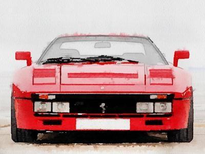1980 Ferrari 288 GTO Front Watercolor